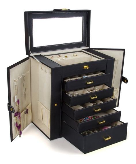 Alhajero Organizador Caja Para Joyeria Estuche Joyeria Negro