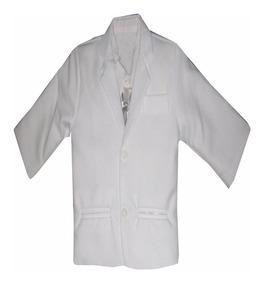 Terno Branco Infantil Roupa Social Batizado Batismo 1 Ao 12
