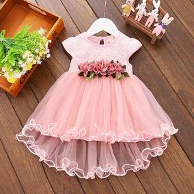 4f9c517684 Vestidos De Fiesta Para Niñas Color Palo De Rosa en Mercado Libre México
