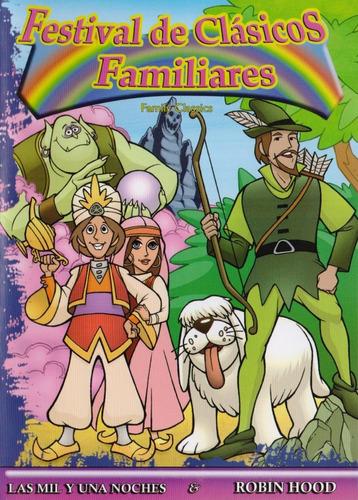 Imagen 1 de 3 de Las Mil Y Una Noches & Robin Hood Pelicula Animada Dvd