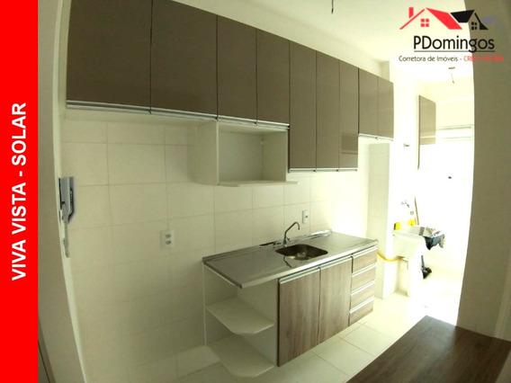 Apartamento Com Planejados Para Locação No Condomínio Residencial Viva Vista - Solar, Em Nova Veneza, Sumaré - Sp!!! - Ap00276 - 34109296