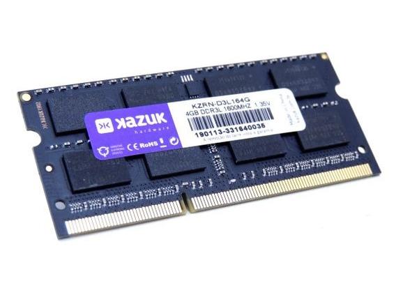 Memória Kazuk 4gb 1600mhz Ddr3l Notebook Kzrn-d3l164g
