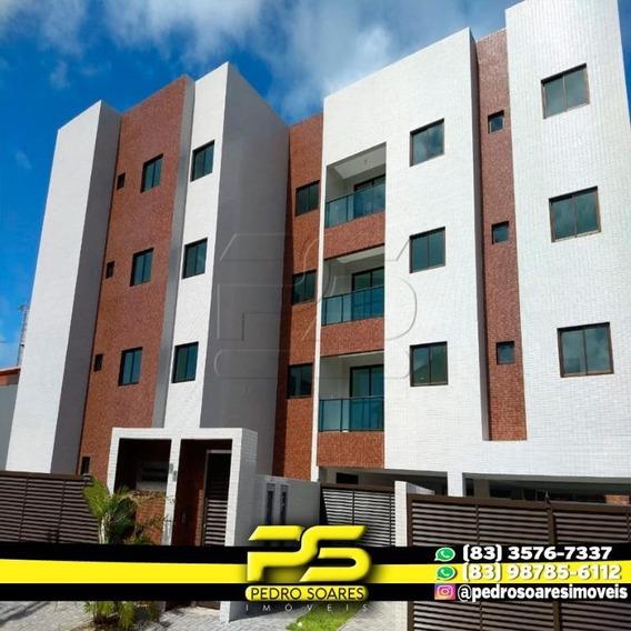 Apartamento Com 2 Dormitórios Para Alugar, 60 M² Por R$ 1.000/mês - Ponta De Campina - Cabedelo/pb - Ap3020