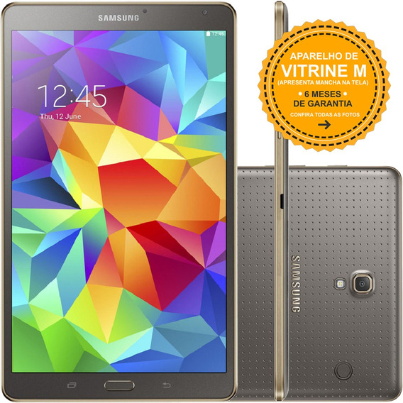 Tablet Galaxy Tab S T700t 16gb 4g 8mp Dourado Mancha Tela