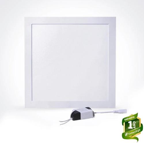Plafon Painel Led Embutir 25w Branco Frio Quadrado