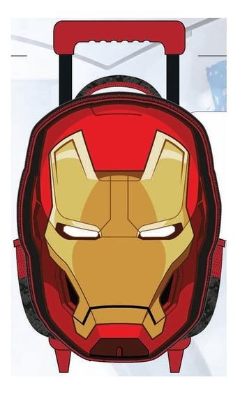 Mochila C/rodas Gde 16 Vingadores Homem De Ferro Xeryus