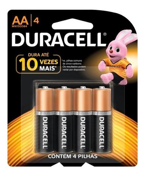 Pilhas Duracel Alcalinas Pequena Aa Com 4 Unidades