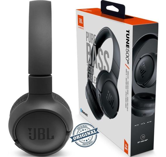 Fone De Ouvido Bluetooth Jbl Tune T500bt Preto 1ano Garantia