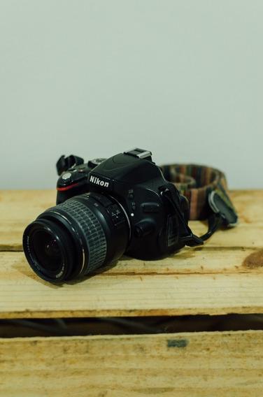 Câmera Nikon D5100 + Nikkor 18-55mm + Bag + Alça Dupla Couro