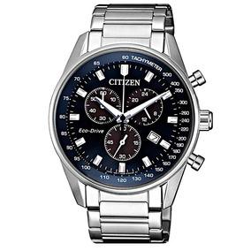 Relógio Citizen Eco Drive Masculino Prata Cronografo