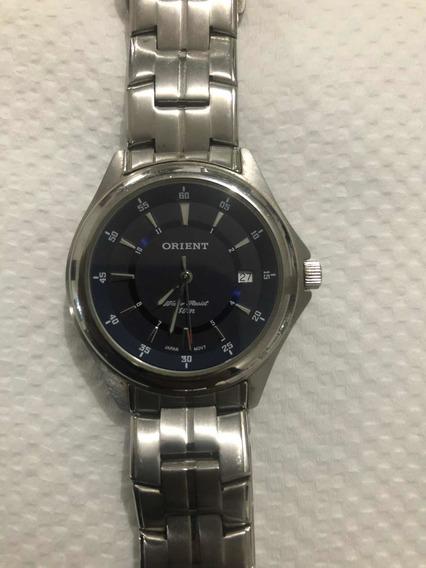 Relógio Orient Em Aço - Frete Grátis