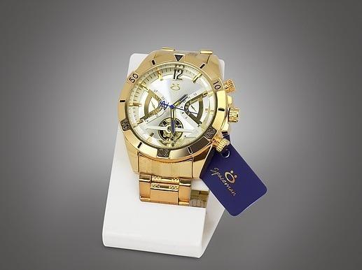 Relógio Masculino Spaceman Gold