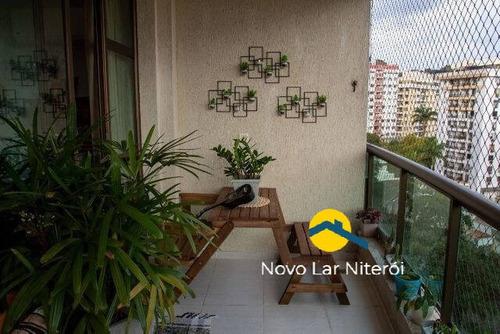 Imagem 1 de 15 de Excelente Apartamento Andar Alto Com Varanda, 3 Quarto, 1 Suíte E Lazer. - 126