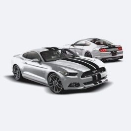 Calcomanias Vinilo Negro Doble Linea Ford Mustang 16/18