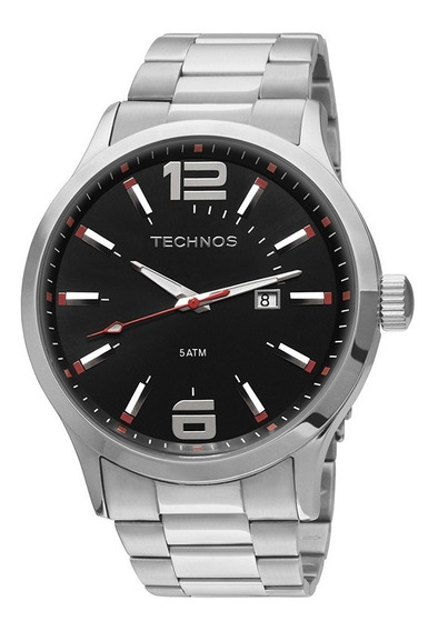 Relógio Masculino Technos Racer Prata Analógico 2115gu/1r