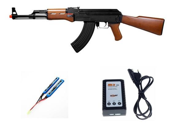 Rifle Airsoft G&g Ak47 Mid Cap Metal