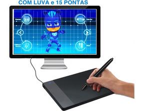 Mesa Digitalizadora Huion 420 + 15 Ponteiras E Luva Grátis
