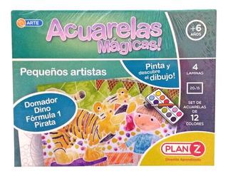 Juego De Acuarelas Magicas Pequeño Artista Plan Z Cuotas