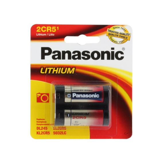 1 Bateria 2cr5 Panasonic 6v Lithium Photo Power Battery