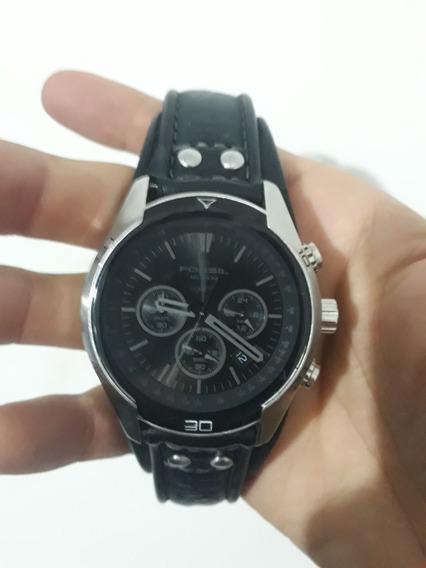 Relógio Fossil Ch2586 - Original - Pulseira Em Couro Preto
