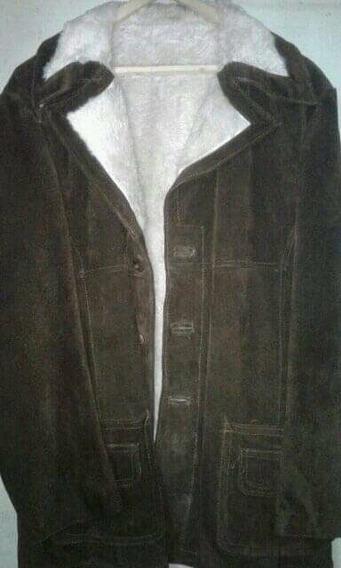 Gamulán De Cuero Para Hombre, Modelo Vintage