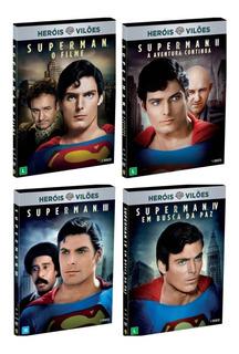 Dvd Superman Coleção 4 Filmes Originais C/ Luva Novo Lacrado