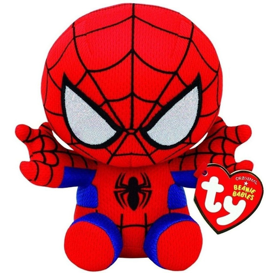 Beanie Babies Homem Aranha Spider Man Pelúcia Ty Dtc