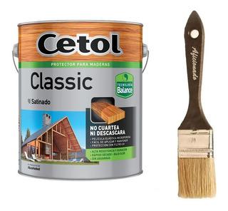 Cetol Classic Satinado Balance 4 L Al Agua Sin Olor + Pincel