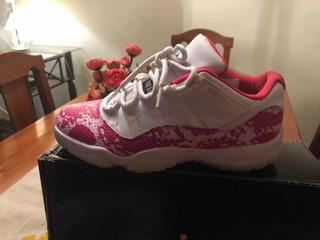 Zapatillas Jordan Retro 11 Snake Rosa , 10 Días De Uso ¿