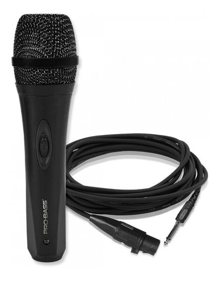 Microfone Vocal Com Cabo Pro Bass Promic500