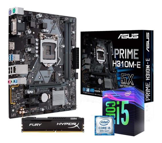 Kit Intel 9º Geração I5 9400f + H310m-e + 8gb Ddr4 C/nfe