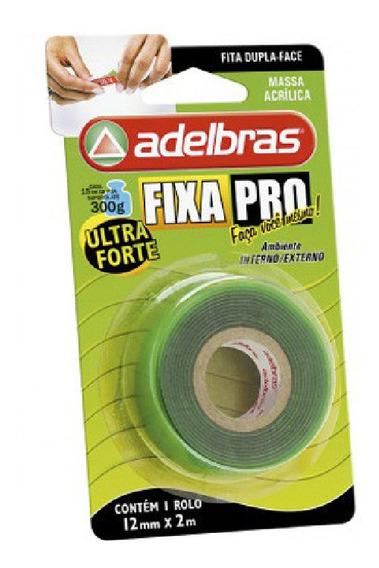 Fita Dupla Face Fixa Pro 12mm X 2m Ultra Forte Adelbras