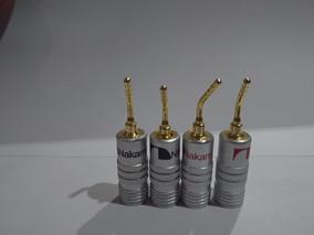 16 Plugs Banana Nakamichi Pino 2mm Receivers Caixa Acústica