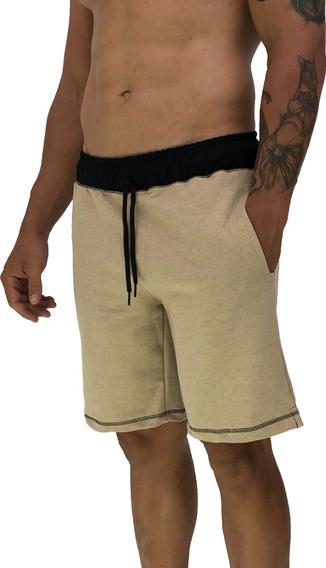 Bermuda Moletom Masculina Shorts Mxd Conceito Moleton Listra