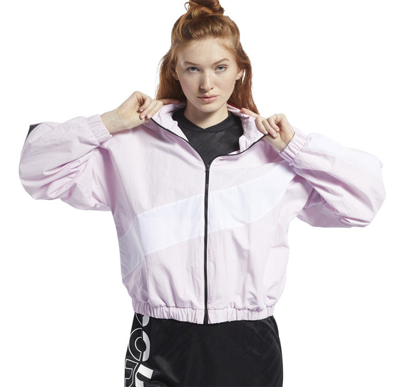 Campera Rompeviento Reebok Meet You There Mujer Rs/bl
