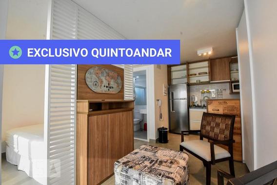 Studio No 24º Andar Mobiliado Com 1 Dormitório E 1 Garagem - Id: 892940855 - 240855