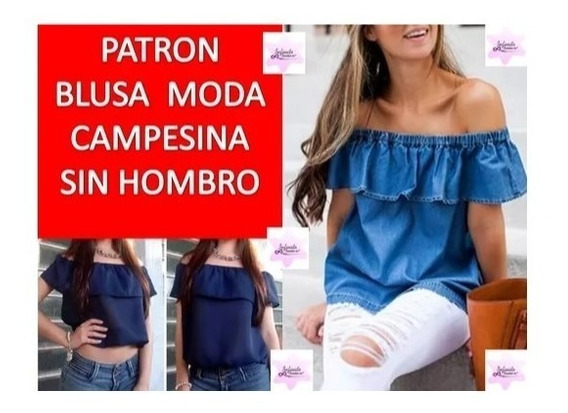 Patrones Imprimibles Blusa Hombros Al Aire Moda Campesina