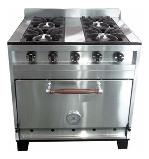 Cocina Industrial Eg 4 H 80cm Acero Inox Horno Pizzero