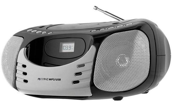 Radio Philco Cd Player Fm Mp3 Usb 5w Rms Display Digital