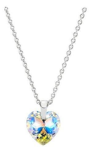 Collar Para Mujer Con Cristal Corazón Swarovski Aurora Borea
