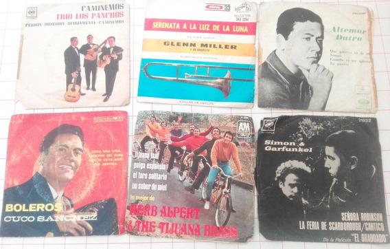 Lote De 6 Mini Discos De Vinilo De Coleccion En Sobre F4