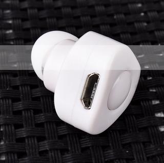 Branco Earless Mini Auto-temporizador Bluetooth Fone De Ouvi