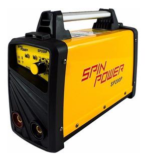 Máquina De Solda Inversora Sp200p 220v 200p Spinpower Vulcan