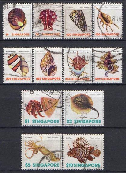 Cingapura - Conchas E Vida Marinha - 1977
