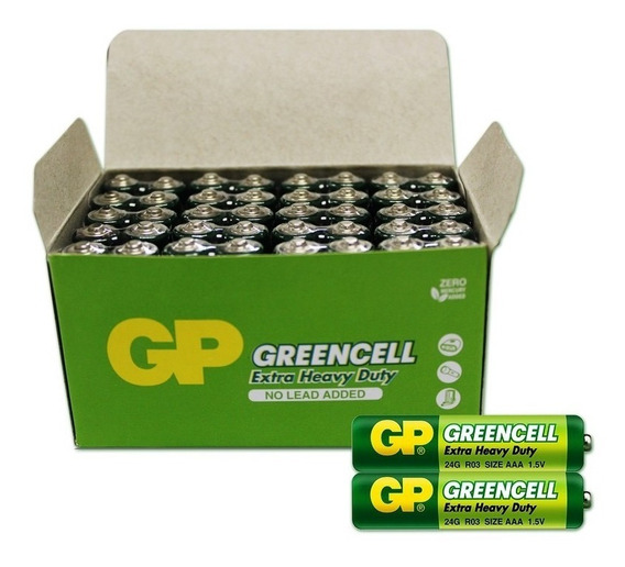 Pilha Aa Carvao Greencell 20x2 40 Unidades