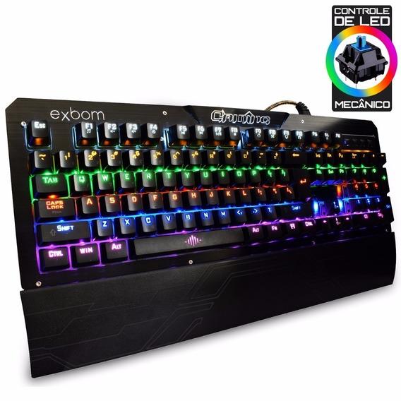 Teclado Mecânico Barato Com Swicth Azul De Cores Em Rainbow