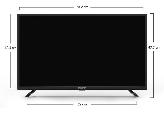 Tv Led Monitor Panavox 32 Hd Usb Hdmi Isdb-t - Otec
