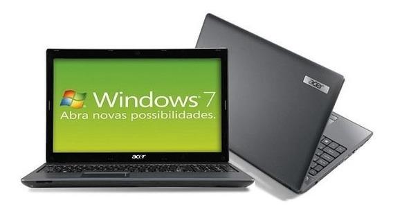 Notebook Acer Amd Dual Core 4gb 320gb Windows 15,6