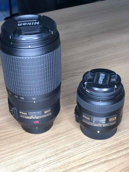 Lente Nikkor 70-300mm + Lente Nikkor 40mm