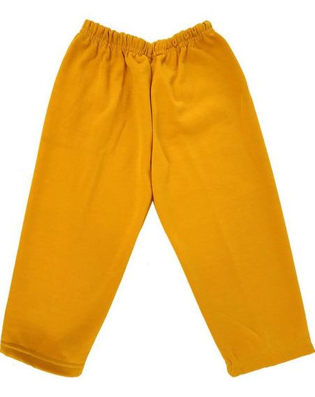 Pants Niño Talla 2 Térmico Afelpado 100% Poliéster Naranja